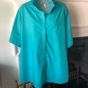 Foxcroft Wrinkle Free Light Peacock Blouse